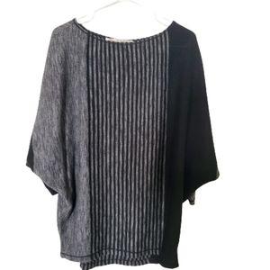 Max Studio oversize bat wing scoop neck sweater